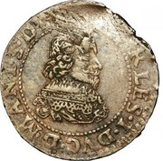 Double Tournois - Charles I (17th type) – obverse