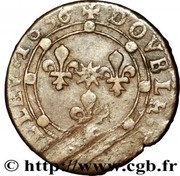 Double Tournois - Charles I (17th type) – reverse