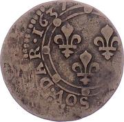 Double Tournois - Charles I (19th type) – reverse