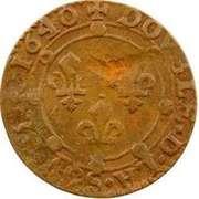Double Tournois - Charles II (21st type) – reverse