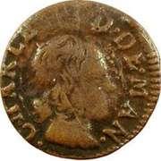 Denier Tournois - Charles II (3rd type) – obverse