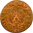 Double Tournois - Charles I (11th type) – reverse