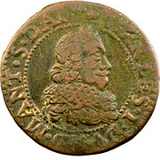 Double Tournois - Charles I (15th type) – obverse
