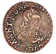 Double Tournois - Charles II (22nd type) – obverse