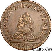 Liard Charles Ier de Gonzague au buste fin – obverse
