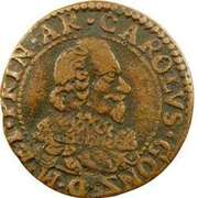 Double Tournois - Charles I (6th type) – obverse