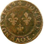 Double Tournois - Charles I (6th type) – reverse