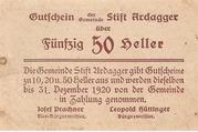 50 Heller (Ardagger) -  reverse