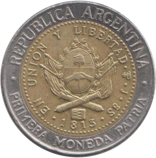Аргентина 1 песо цифры старые