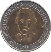 1 Peso (General Urquiza) -  obverse