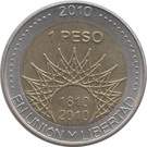1 Peso (El Palmar) – reverse
