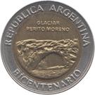 1 Peso (Glaciar Perito Moreno) – obverse