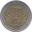 1 Peso (Glaciar Perito Moreno) – reverse