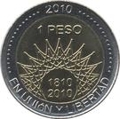 1 Peso (Aconcagua) – reverse