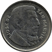 10 Centavos (smaller head, smooth edge) – obverse