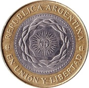 2 Pesos (May Revolution) -  obverse