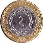 2 Pesos (May Revolution) -  reverse