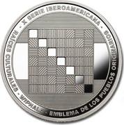 25 Pesos (Ibero-American Series - Wiphala flag) – obverse