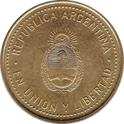 10 Centavos (smooth edge; magnetic) -  obverse