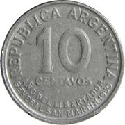 10 Centavos (José de San Martin) -  reverse