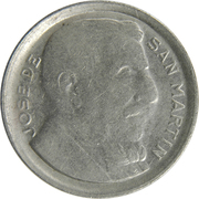 10 Centavos (larger head, smooth edge) -  obverse