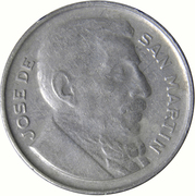 20 Centavos (larger head, smooth edge) – obverse