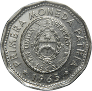25 Pesos (First Issue of National Coinage in 1813) – obverse