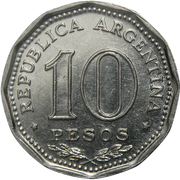 10 Pesos (Declaration of Independence) – reverse