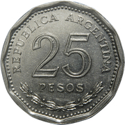25 Pesos (Faustino Sarmiento) – reverse