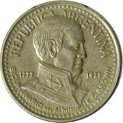 10 Pesos (Admiral G. Brown) – obverse