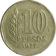 10 Pesos (Admiral G. Brown) – reverse