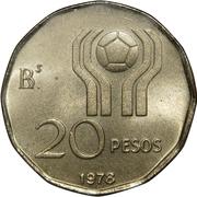 20 Pesos (Soccer) -  reverse