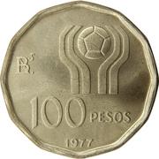 100 Pesos (Soccer) -  reverse