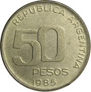 50 Pesos (Central Bank Anniversary) -  reverse