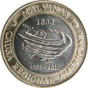 2 Pesos (30th Anniversary of the South Atlantic War) – obverse