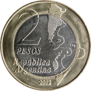 2 Pesos (30th Anniversary of the South Atlantic War) – reverse