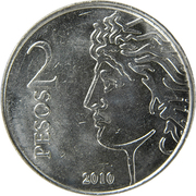 2 Pesos (75th Anniversary of B.C.R.A.) -  reverse