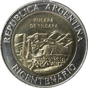 1 Peso (Pucará de Tilcara) – obverse