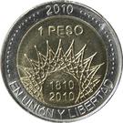 1 Peso (Pucará de Tilcara) – reverse