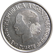2 Pesos (Eva Peron) -  obverse