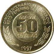 50 Centavos (Women's Vote) -  reverse