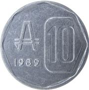 10 Australes -  reverse