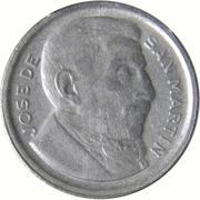 5 Centavos (larger head; smooth edge) – obverse
