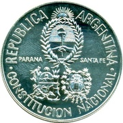 5 Pesos (National Constitution Convention) -  obverse
