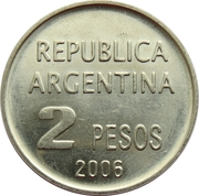 2 Pesos (Defense of Human Rights) -  reverse