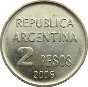 2 Pesos (Defense of Human Rights) -  obverse
