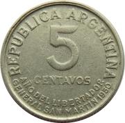 5 Centavos (José San Martin) – reverse