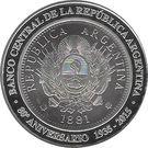 1 Peso (80th Anniversary of B.C.R.A.) – obverse