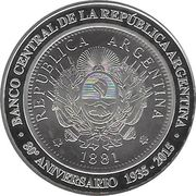 1 Peso (80th Anniversary of B.C.R.A.) – obverse
