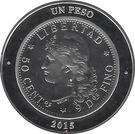 1 Peso (80th Anniversary of B.C.R.A.) – reverse